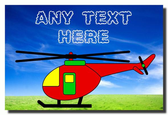 Helicopter Personalised Jumbo Fridge Magnet