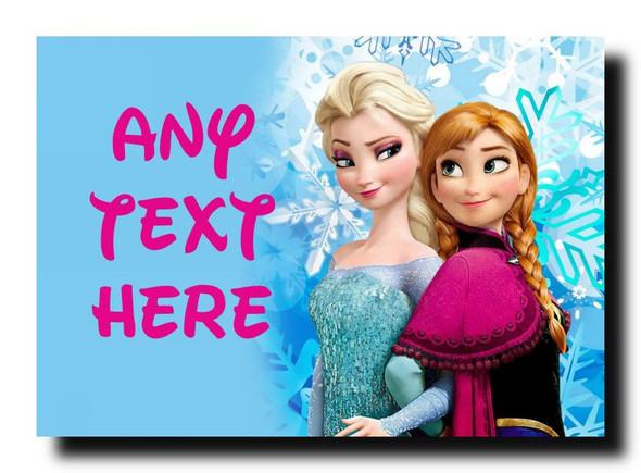 Frozen Anna And Elsa Personalised Jumbo Magnet