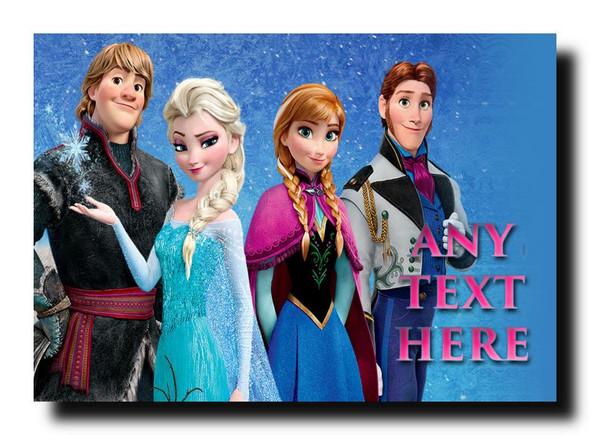 Frozen Characters Personalised Jumbo Magnet