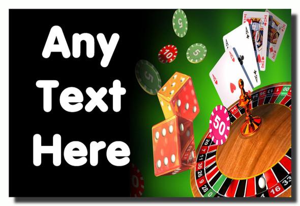 Casino Personalised Jumbo Fridge Magnet