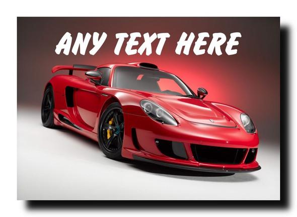 Porsche Carrera Gt Personalised Jumbo Magnet