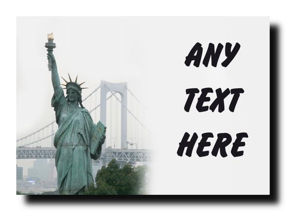Statue Of Liberty Personalised Jumbo Magnet