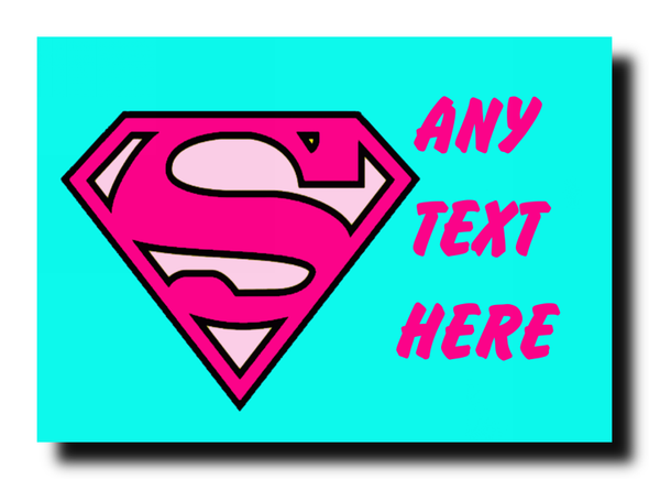 Superwoman Personalised Jumbo Magnet
