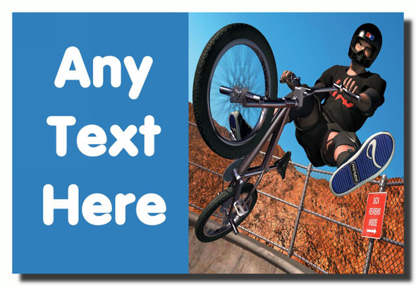 Bike Bmx Personalised Jumbo Fridge Magnet