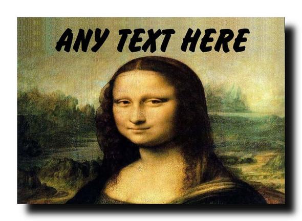 Mona Lisa Personalised Jumbo Magnet