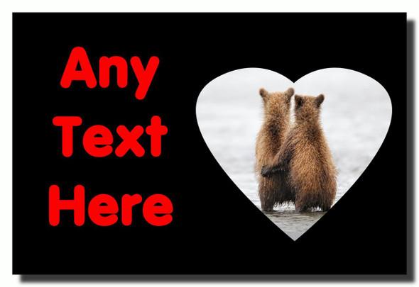 Romantic Bears Personalised Jumbo Fridge Magnet