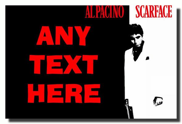Scarface Al Pacino Personalised Jumbo Fridge Magnet