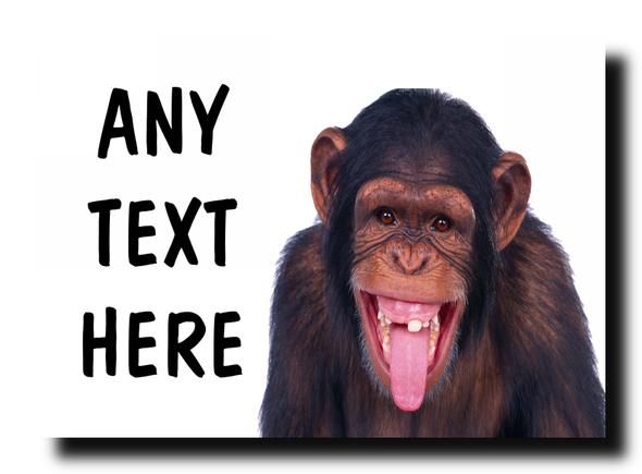 Funny Cheeky Monkey Personalised Jumbo Magnet