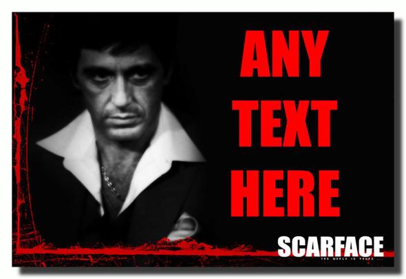 Al Pacino Scarface Personalised Jumbo Fridge Magnet