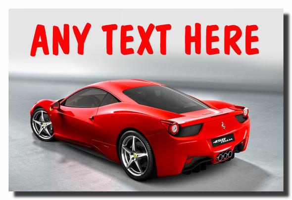 Ferrari Italia Personalised Jumbo Fridge Magnet