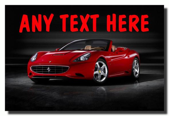Ferrari Red Personalised Jumbo Fridge Magnet