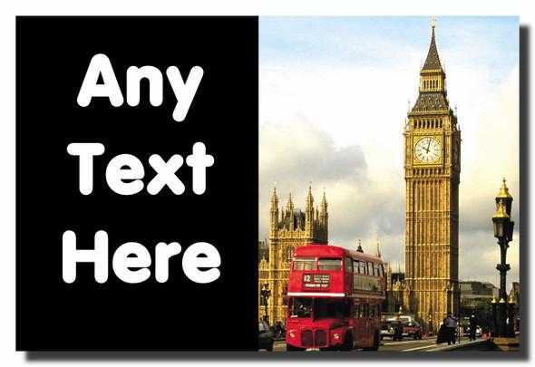 London Big Ben Personalised Jumbo Fridge Magnet
