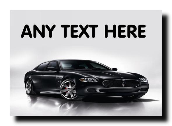 Black Maserati Personalised Jumbo Magnet