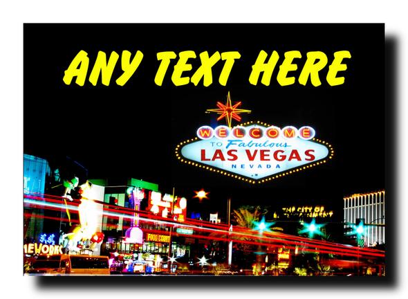 Las Vegas Personalised Jumbo Magnet