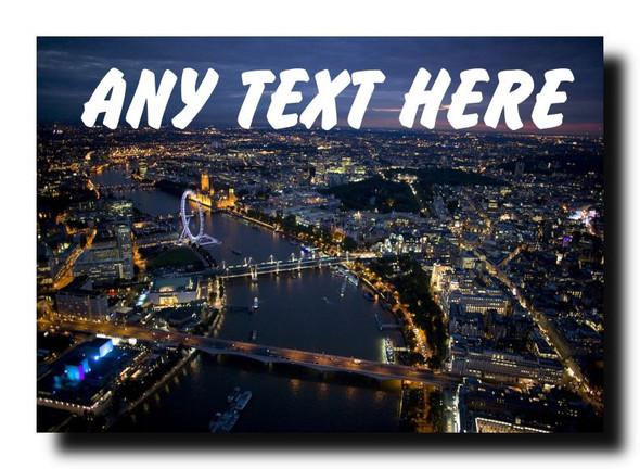 London At Night Personalised Jumbo Magnet