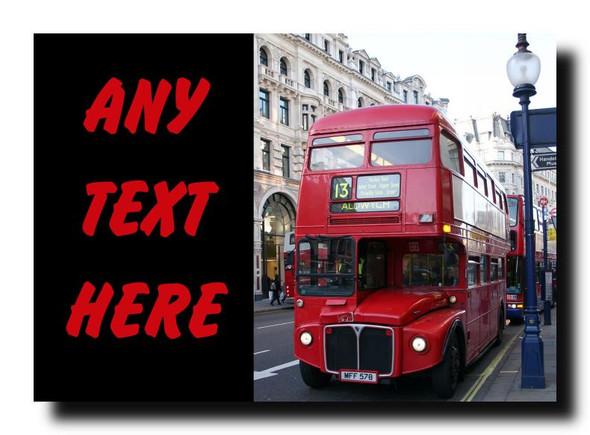 London Bus Personalised Jumbo Magnet