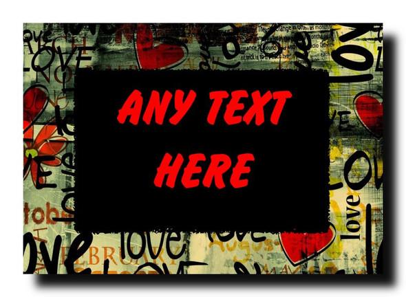 Love Text Romantic Personalised Jumbo Magnet