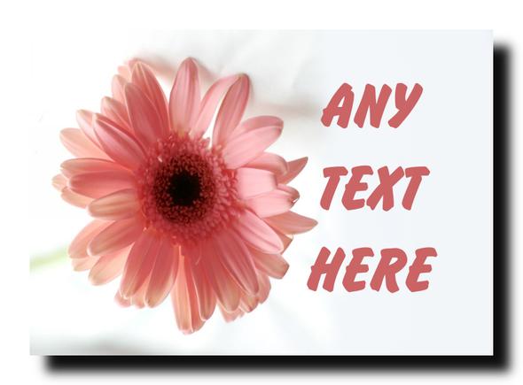 Pink Flower Personalised Jumbo Magnet