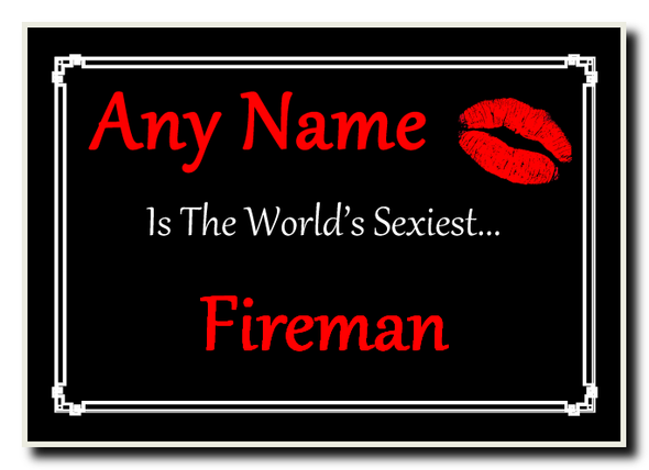 Fireman Personalised World's Sexiest Jumbo Magnet