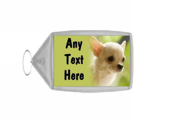 Dog Chihuahua Personalised Keyring