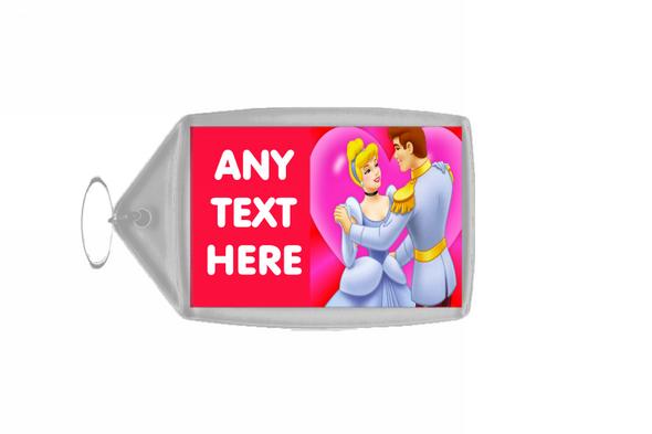 Cinderella Personalised Keyring