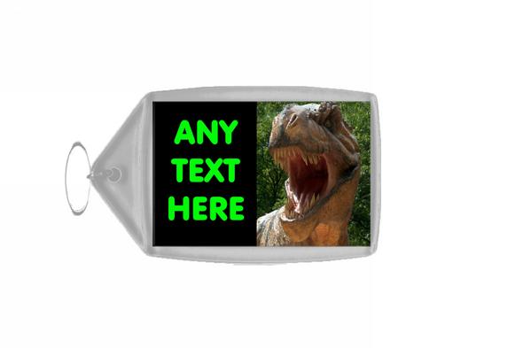 T Rex Dinosaur Personalised Keyring