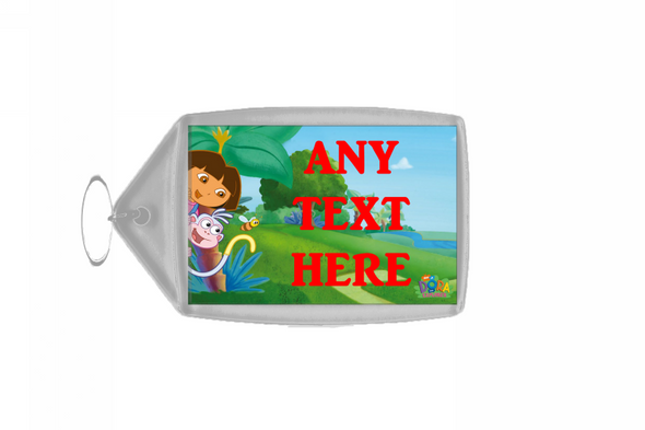 Dora The Explorer And Boots Personalised Keyring