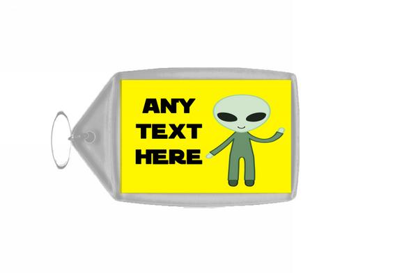Alien Personalised Keyring