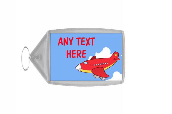 Red Plane Personalised Keyring