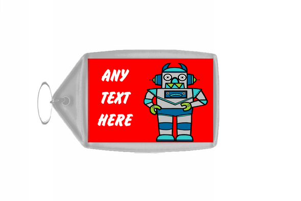 Red Robot Personalised Keyring