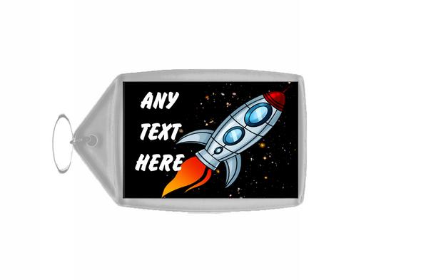 Rocket Space Personalised Keyring