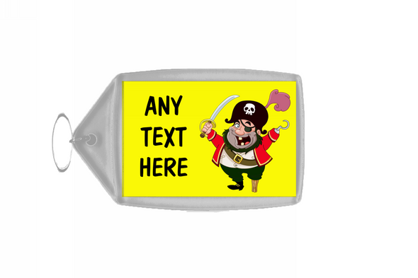 Yellow Pirate Personalised Keyring