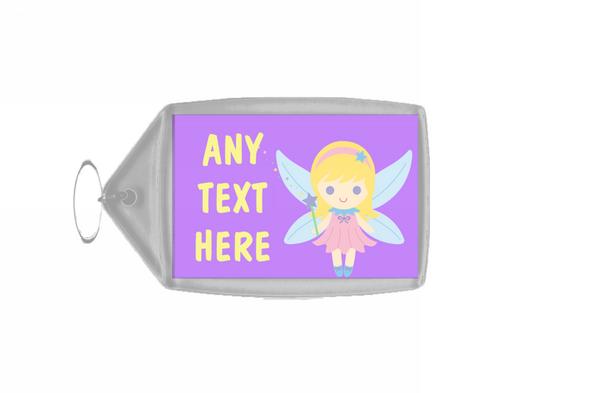 Purple Fairy Personalised Keyring