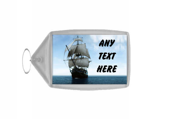 Pirate Ship Personalised Keyring