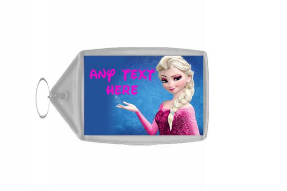 Elsa Frozen Pink Personalised Keyring