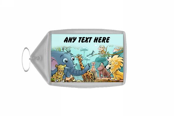 Animal Jungle Personalised Keyring