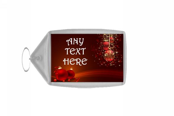 Red Decs Christmas Personalised Keyring