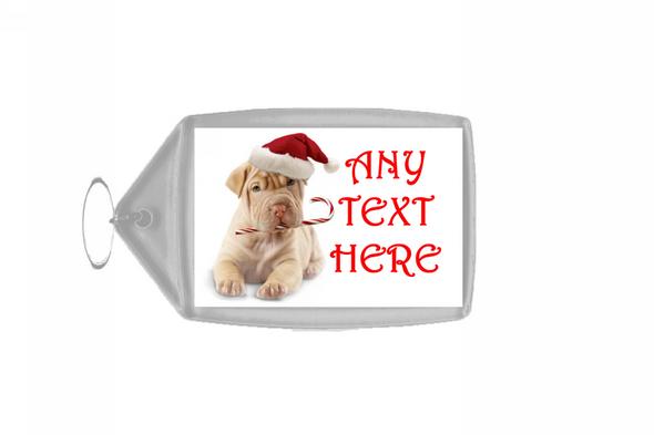 Stunning Dog Christmas Personalised Keyring
