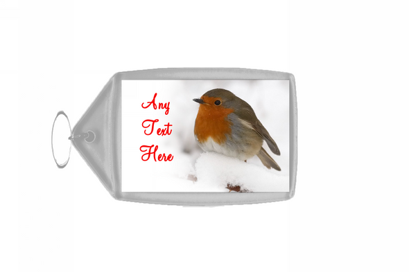 Stunning Robin Christmas Personalised Keyring