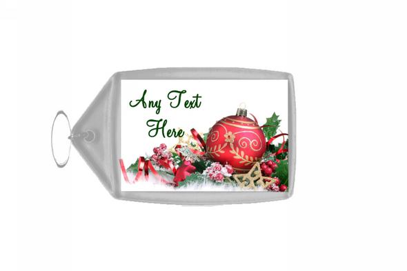 Xmas Decs Christmas Personalised Keyring
