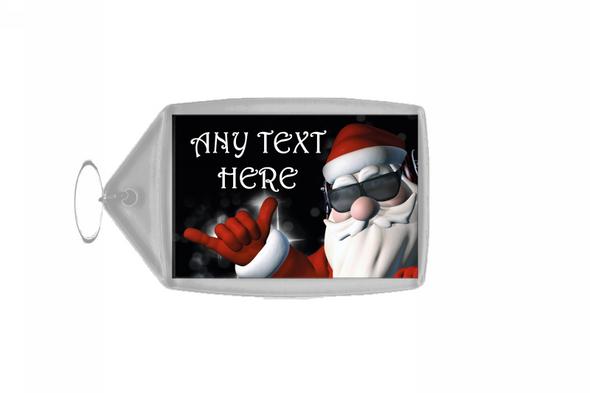 Cool Santa Christmas Personalised Keyring