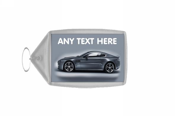 Silver Aston Martin Personalised Keyring