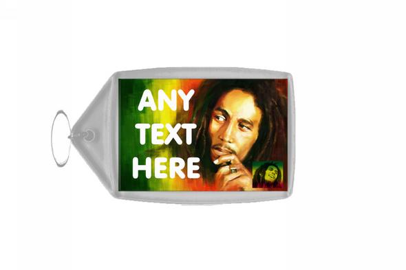 Bob Marley Personalised Keyring