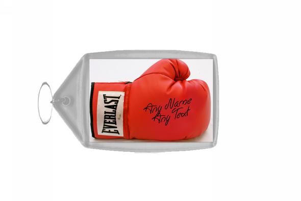 Boxing Glove Personalised Keyring