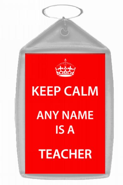Teacher Personalised Keep Calm Keyring