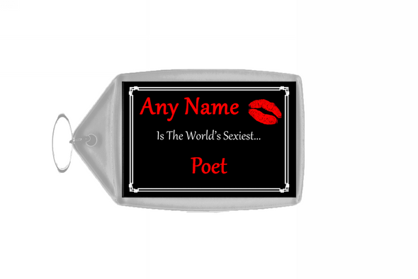 Poet Personalised World's Sexiest Keyring