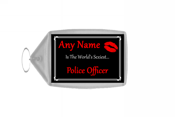 Police Officer Personalised World's Sexiest Keyring