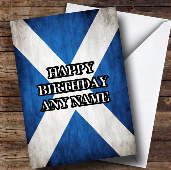 Scottish Flag Personalised Birthday Card