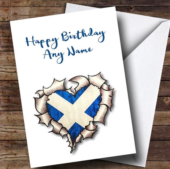 Scottish Heart Personalised Birthday Card