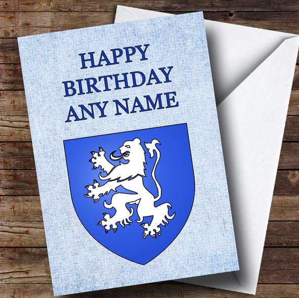 Scottish Lion Personalised Birthday Card